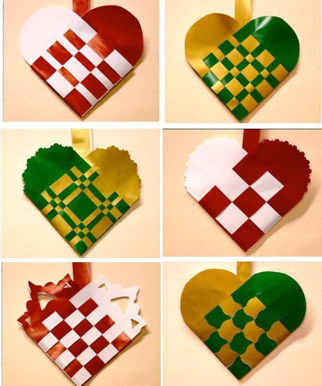 Danish Woven Paper Heart Baskets