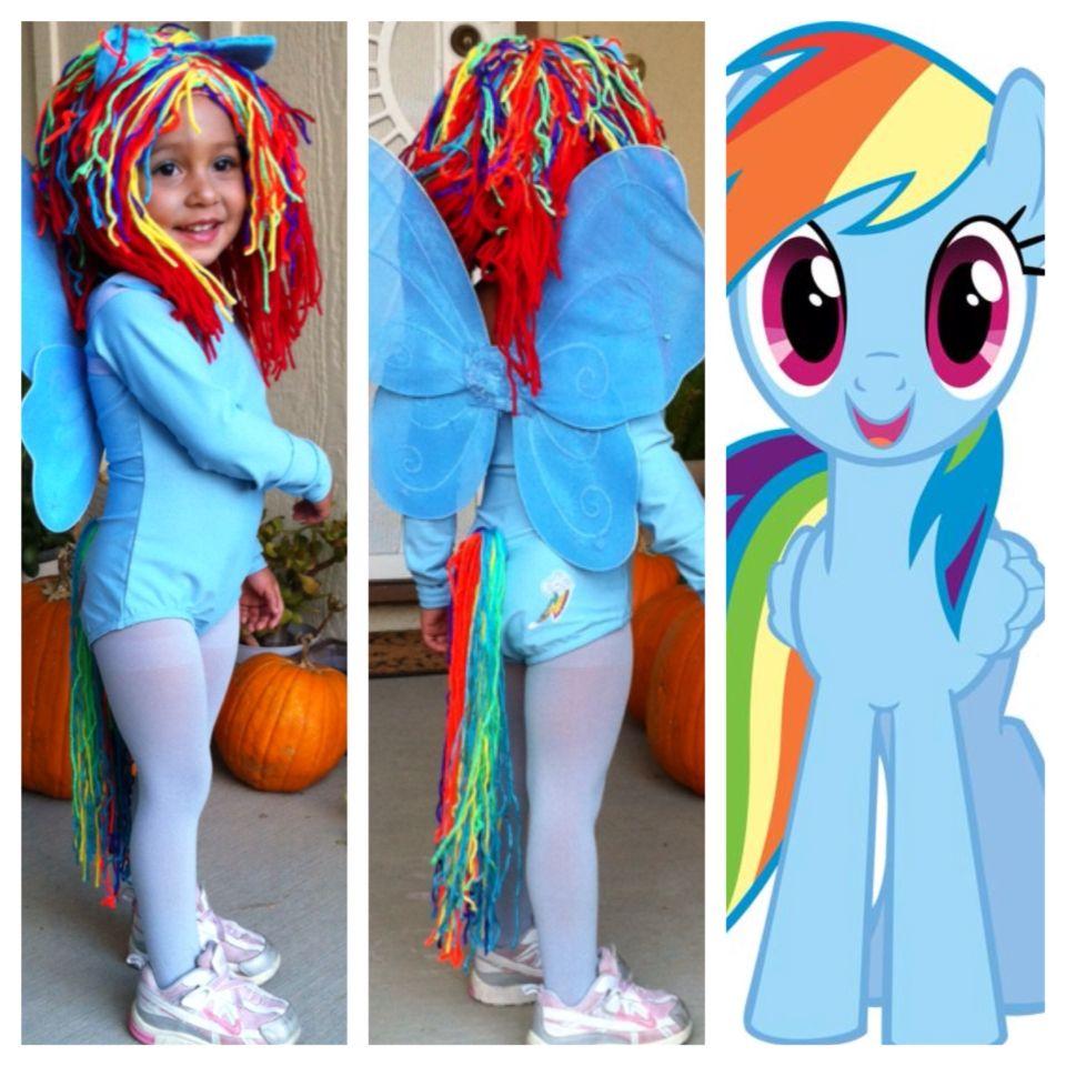 Pony Costume Ideas Rainbowdash My Little Pony Diy Halloween Costume Mlp Cosplay