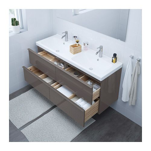 Godmorgon Odensvik Sink Cabinet With 4 Drawers White Stained Oak