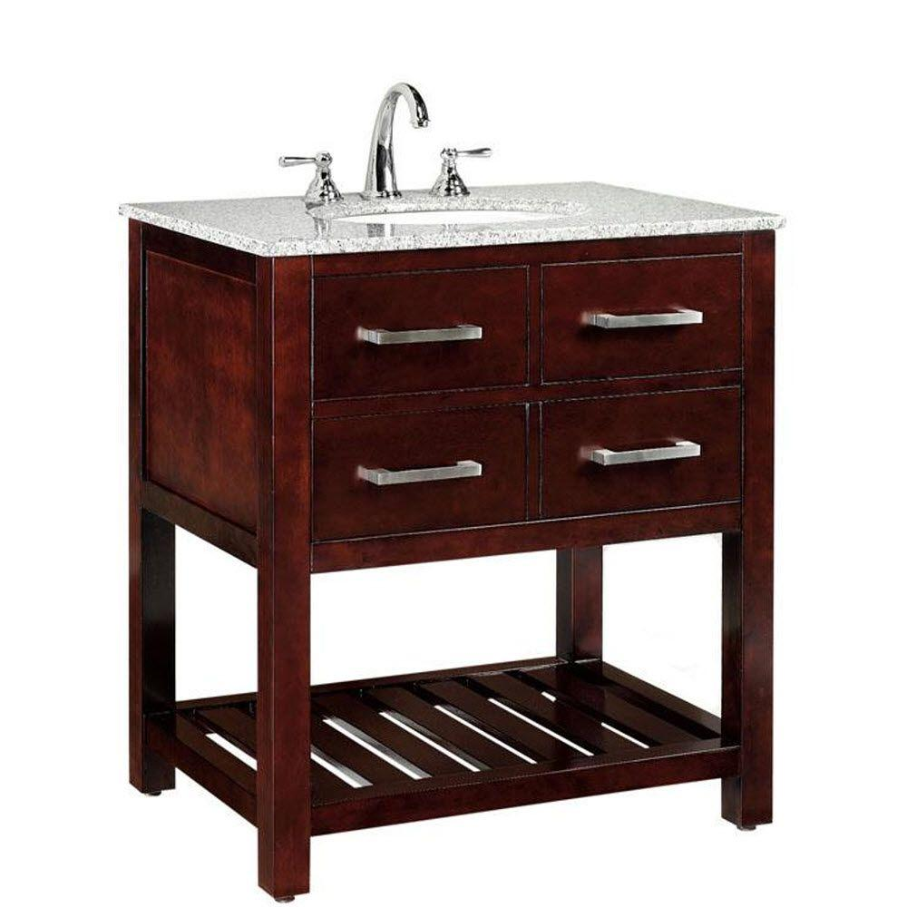 Home Decorators Collection Fraser 31 In Vanity In Espresso With