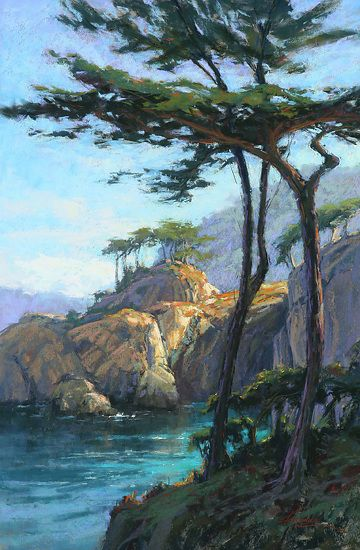 Pt. Lobos Magic by Kim Lordier Pastel ~ 36 x 24 | Arte .PAISAJES ...