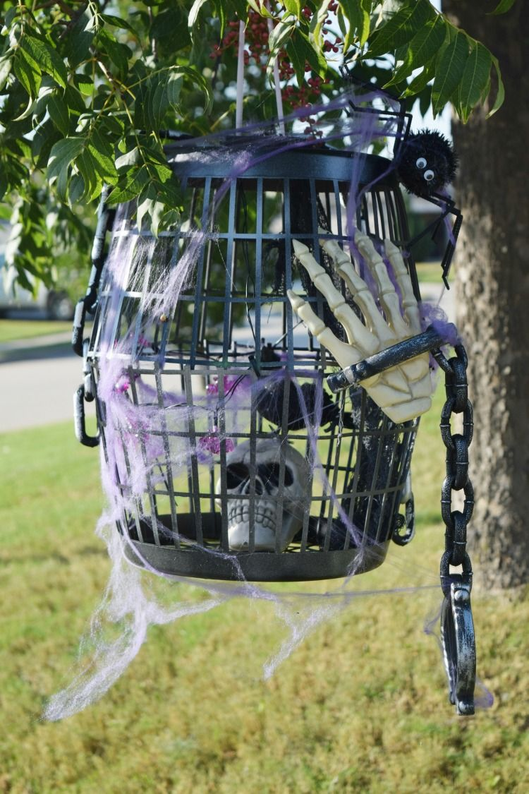 Do You Like Decorating For Halloween Make A Diy Dollar Tree Halloween Bird Cage This Season To S Dollar Store Halloween Dollar Store Diy Dollar Tree Halloween