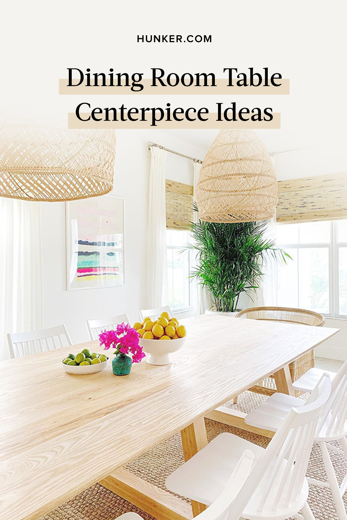 Ahead, we've rounded up the best centerpiece ideas to add to your space. And bonus: We bet you'll already have a few of them on hand! #hunkerhome #diningroom #diningroomtable #tablecenterpiece #tablecenterpieceideas