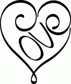 Love Heart Silhouette Design Silhouette Stencils