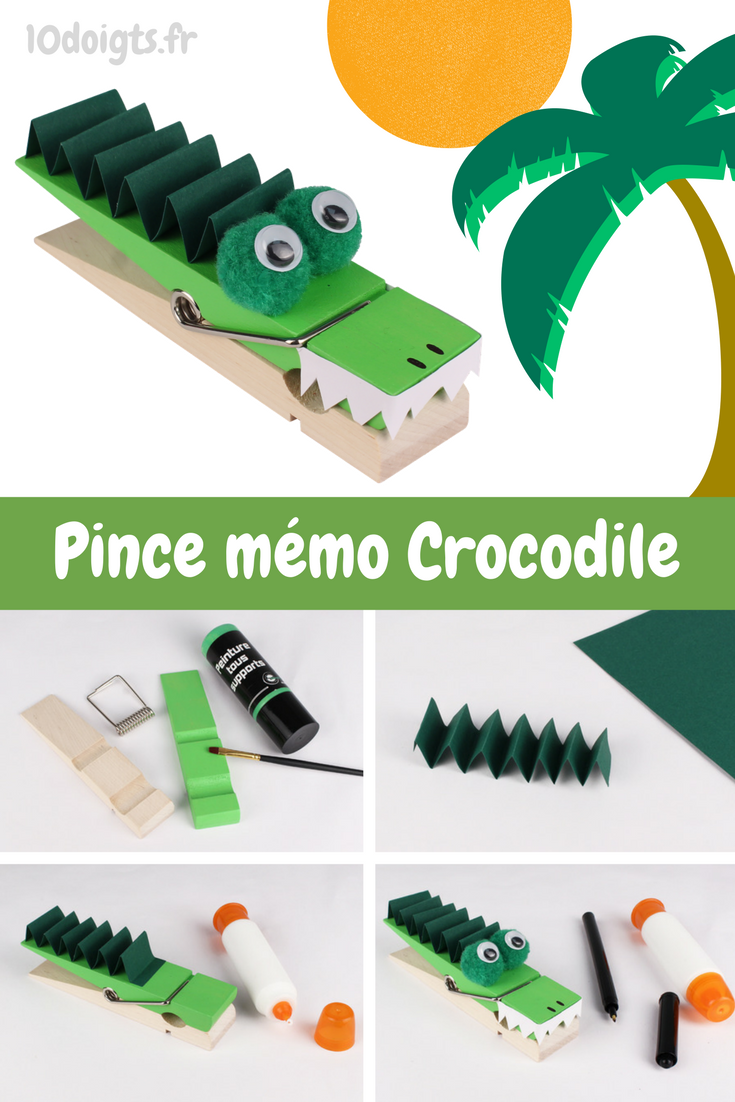 pince m mo crocodile activit s enfantines bricolages pour enfants pinterest crocodiles. Black Bedroom Furniture Sets. Home Design Ideas