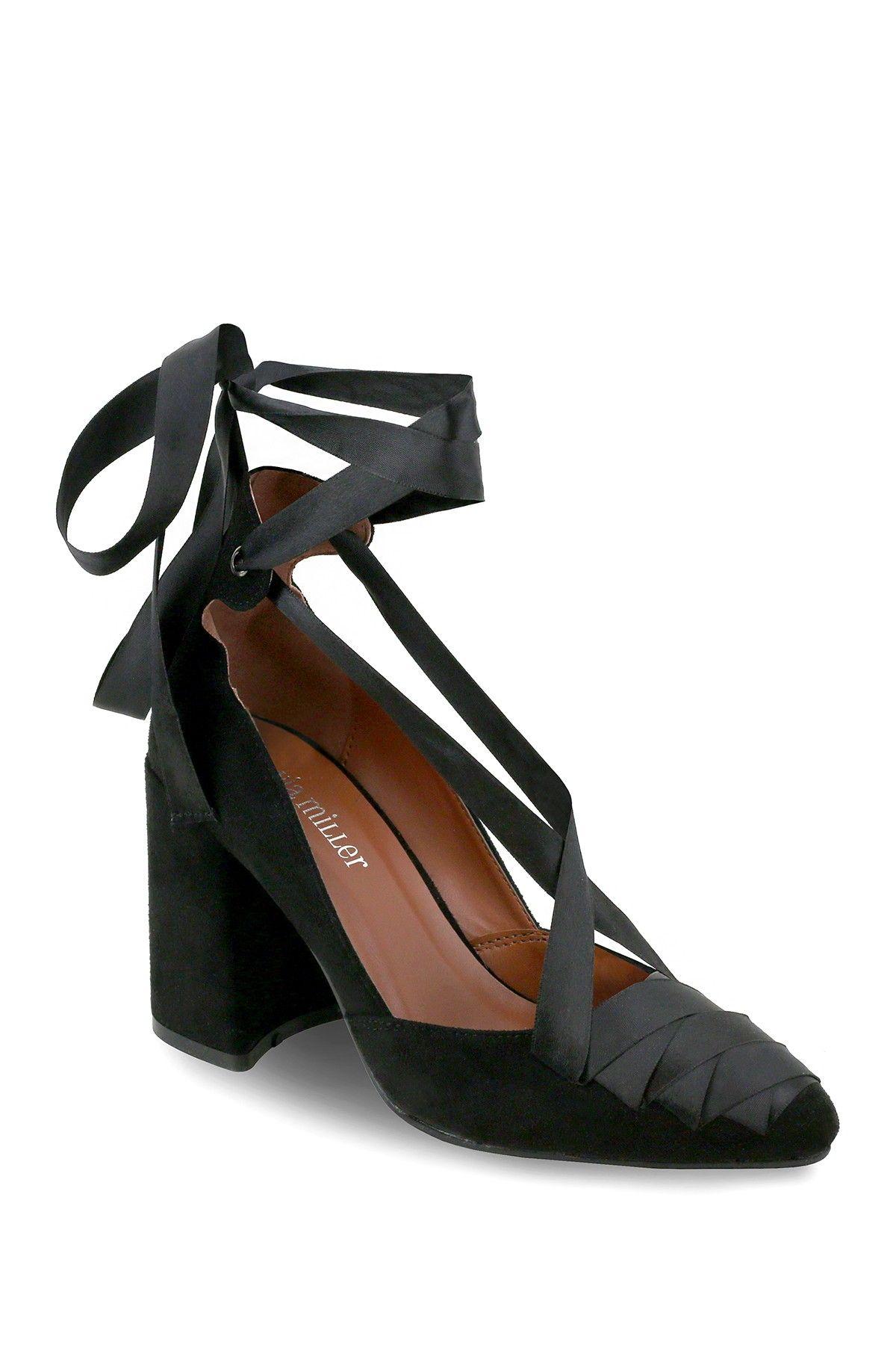 Olivia Miller Greenpoint Lace Up Ribbon Pump Nordstrom Rack Womens High Heels Women S Slip On Shoes Black High Heels