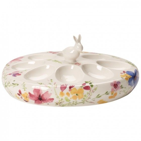 villeroy boch ag mariefleur spring egg plate with bunny 9 in easter party tea pots and teacup. Black Bedroom Furniture Sets. Home Design Ideas