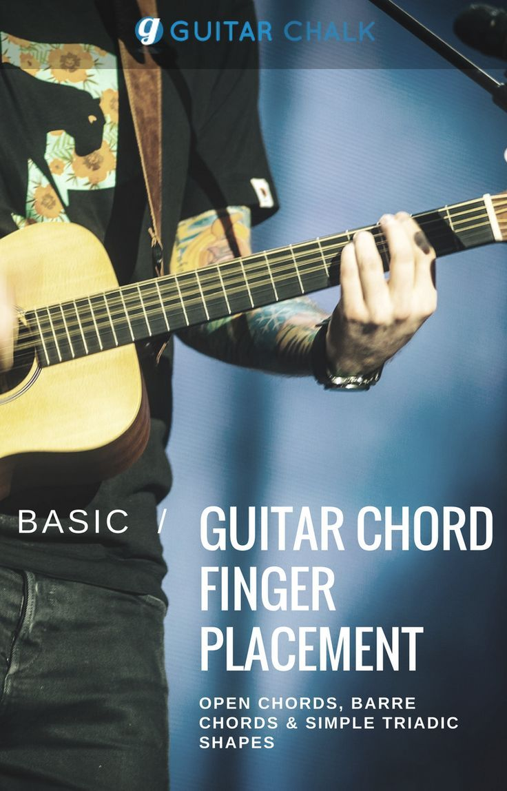 Basic Guitar Chord Finger Positioning With Open Chords Barre