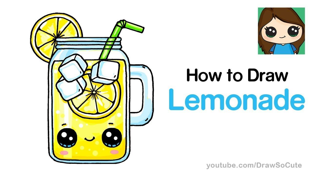 How To Draw Lemonade Easy And Cute With Images Cute Drawings