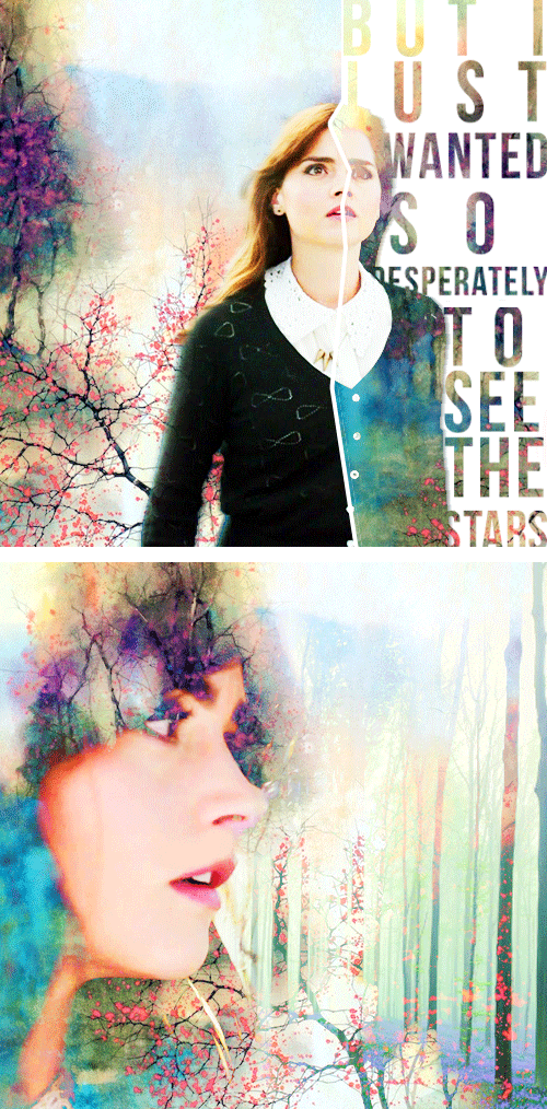 This is what I offer you. Stars. I dream of nothing else.