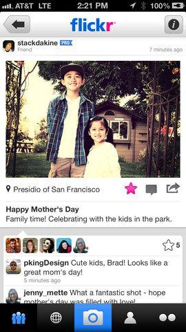 Flickr Redesigns iPhone App, Adds InstagramLike Filters