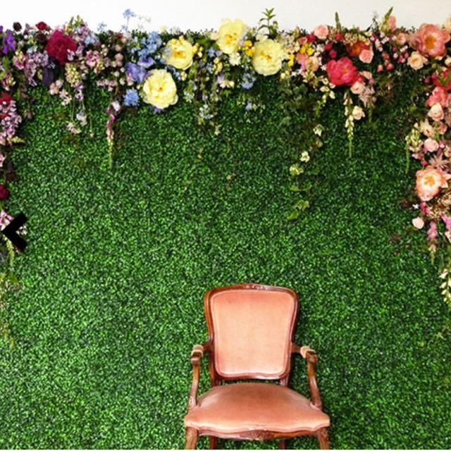 13 Lush Spring Wedding Decorations To Bring To Life Your: 4 Panels Artificial Boxwood Hedge Elliptical