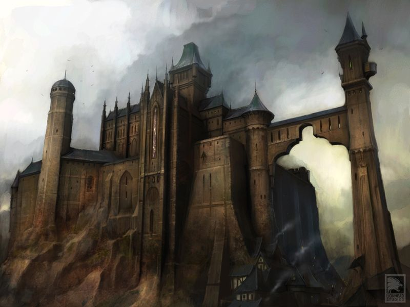 Fable 2 Bowerstone Castle concept art.