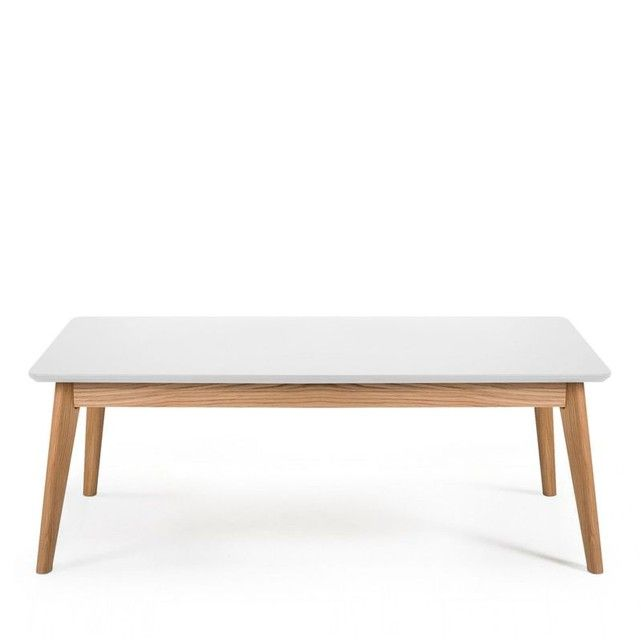 table basse rectangle nordique 110x50cm skoll | drawers