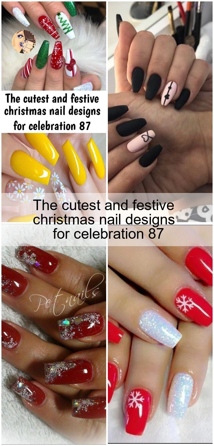 The Cutest And Festive Christmas Nail Designs For Celebration 87 Christmas Nail Designs Christmas Nails Nail Designs