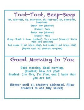 Morning greetings responsive classroom classroom management and morning greetings m4hsunfo Image collections