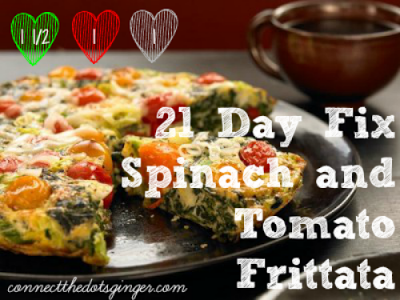 Connect the Dots Ginger: 21 Day Fix Approved Spinach and Tomato Frittata. 21 Day Fix Approved Spinach and Tomato Frittata! Perfect Breakfast for Dinner recipe! Gives you veggies and your protein all while keeping you healthy! See more at www.connectthedotsginger.com