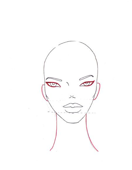 How to draw a fashion face! Step-by-step Tutorial! Learn ...