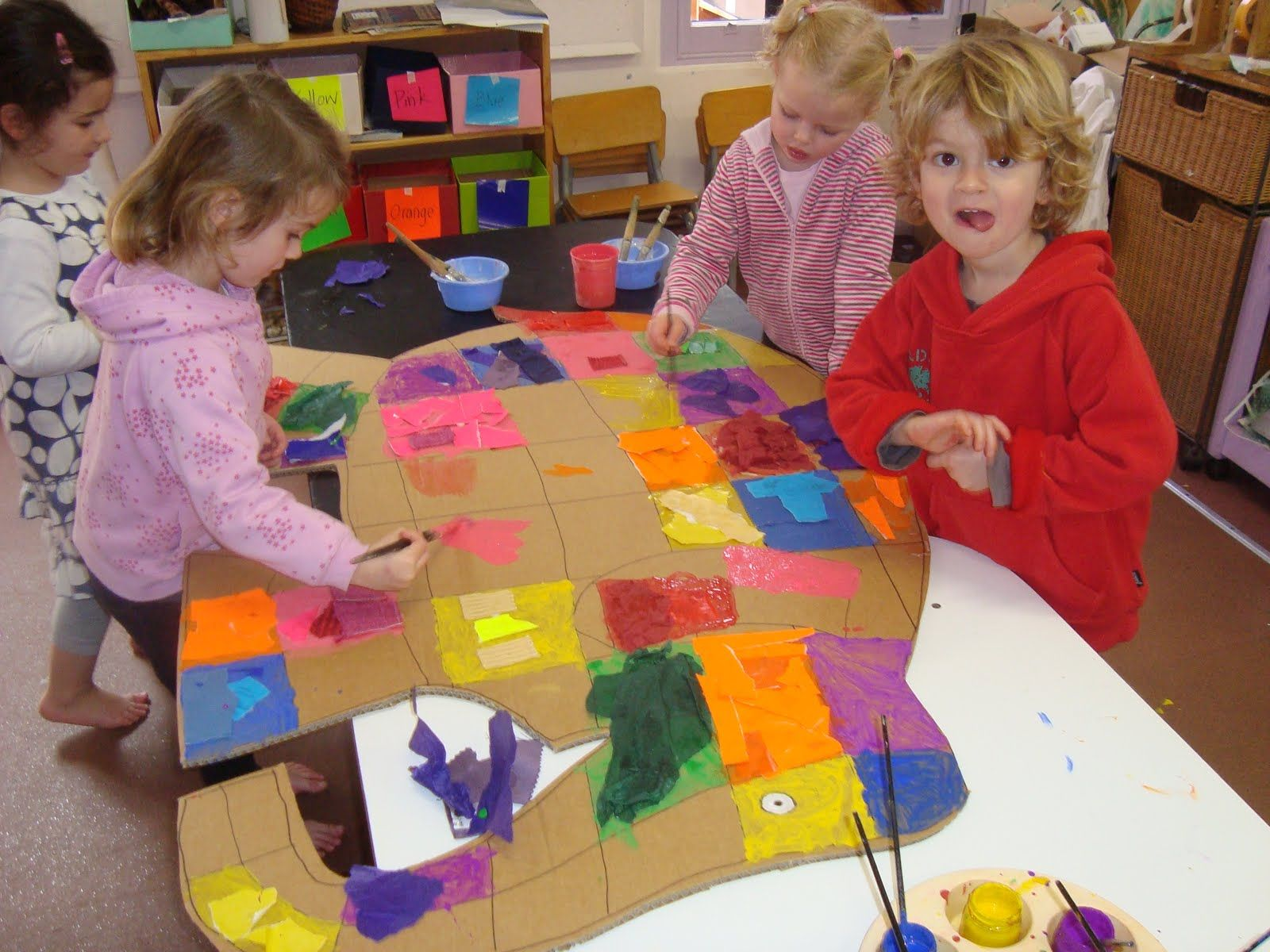 Class Elmer Activity Each Child Gets A Square To Decorate