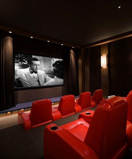 Salas De Cine En Casa: Sala De Cine En Casa Con Sillones Relax