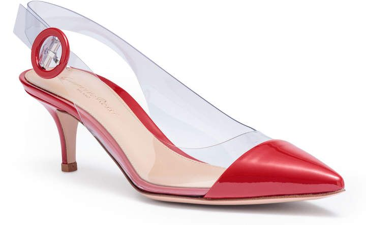 86e05bbde881f Plexi 55 red patent leather sling back pumps | Products | Leather ...