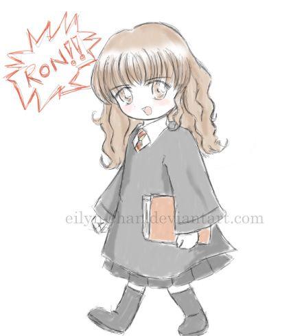 Chibi Hermione Granger By Eilyn Chan On Deviantart Chibi Harry