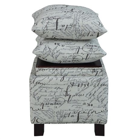 the perfect storage ottomans with two matching accent pillows bring a room 39 s d cor together as. Black Bedroom Furniture Sets. Home Design Ideas