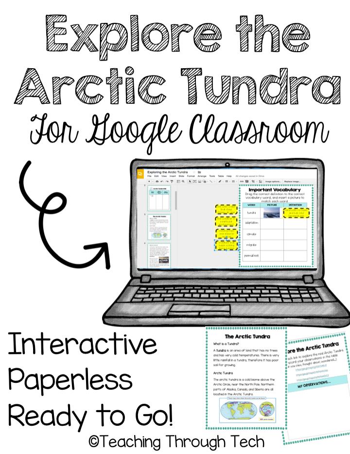 Arctic Tundra Interactive Digital Notebook for Google