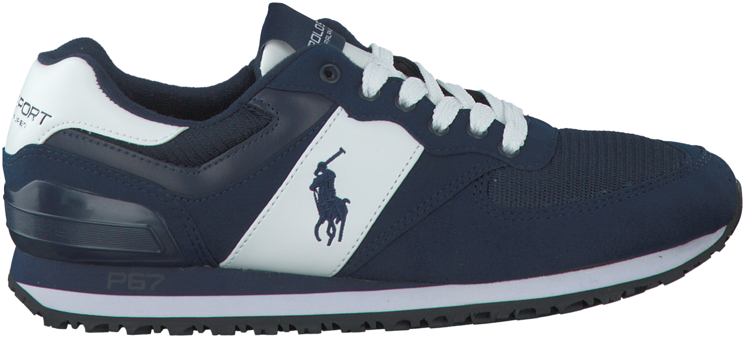 ddc6400a6615 Blauwe Polo Ralph Lauren Sneakers SLATON PONY   New Footwear ...