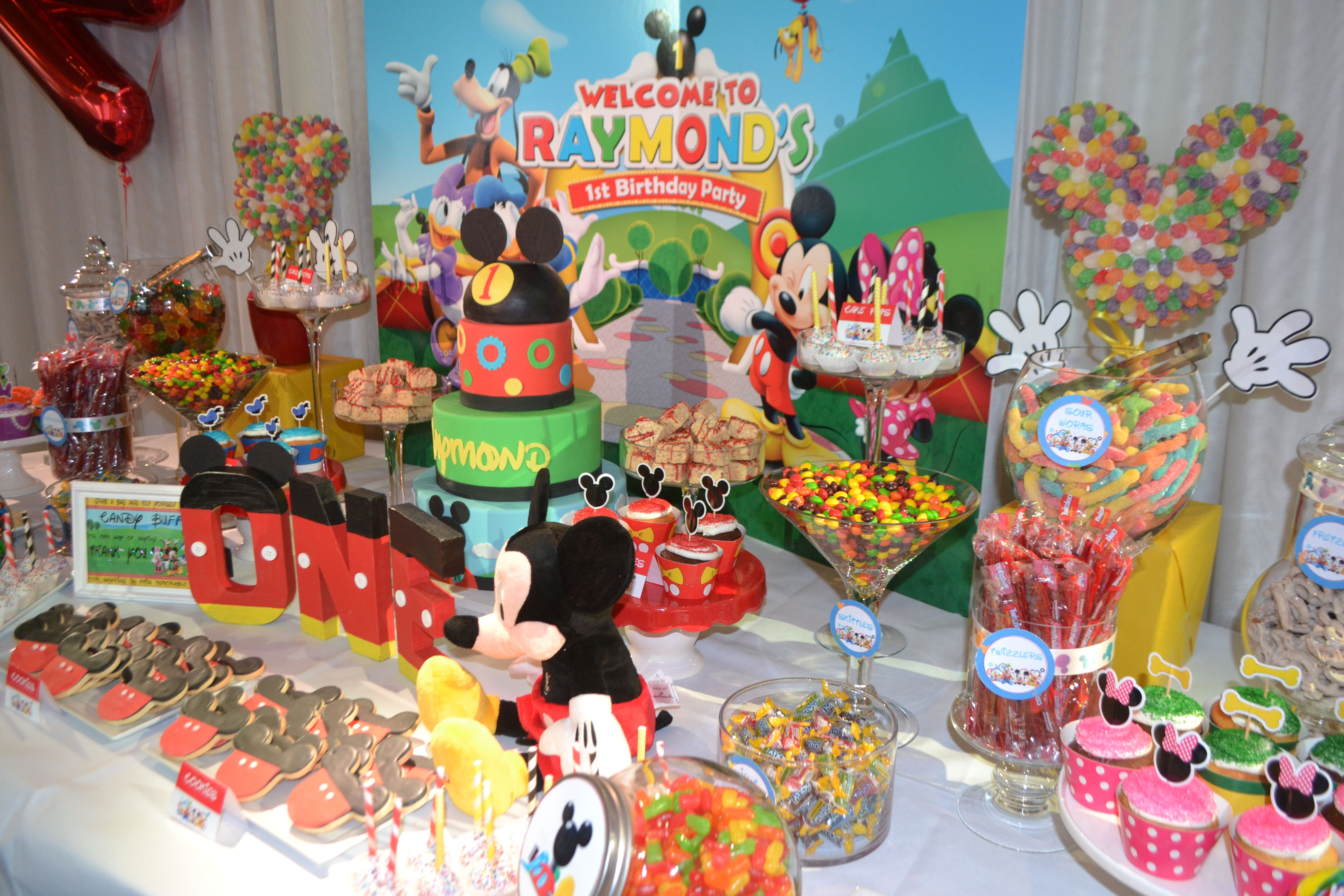 birthday candy candy table mickey mouse