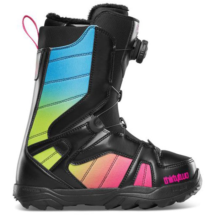 a8815ba18296 Thirty Two (32) STW Boa Snowboard Boots - Women s  Black Pink Green 2015
