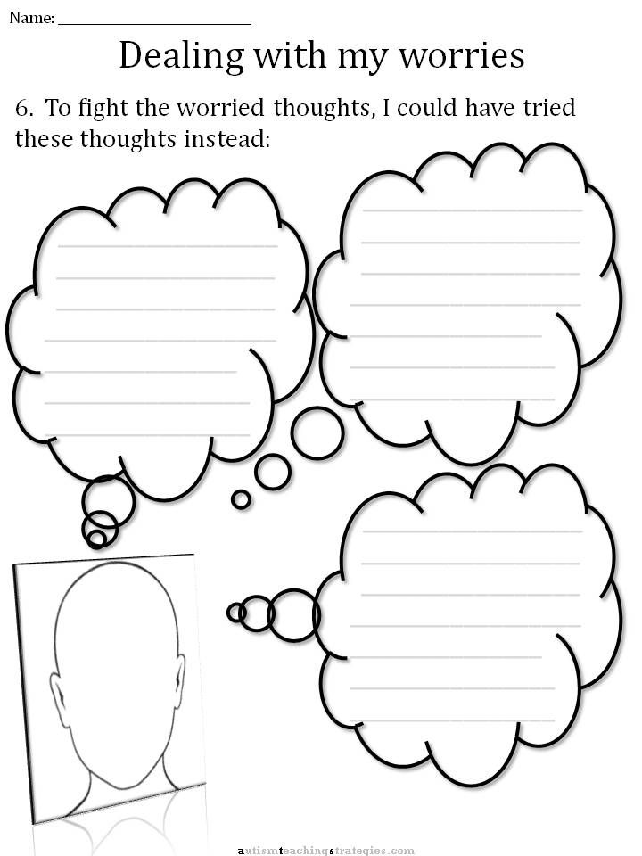 Cbt childrens emotion worksheet series 7 worksheets for dealing with anxiety autismteachingstrategies com