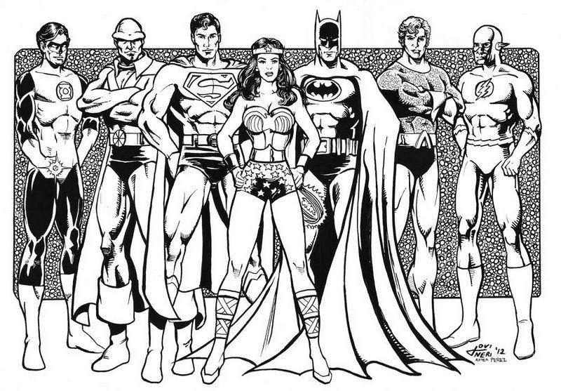 Justice League Superheroes Coloring Page Superhero