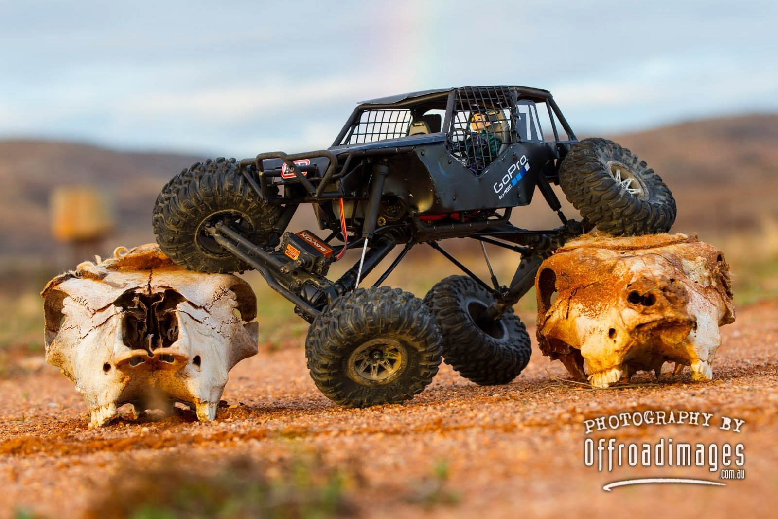Tim's Custom Axial Wraith crawling in Broken Hill