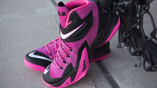2015 New Nike Zoom LeBron Soldier 8 Breast Cancer Think Pink