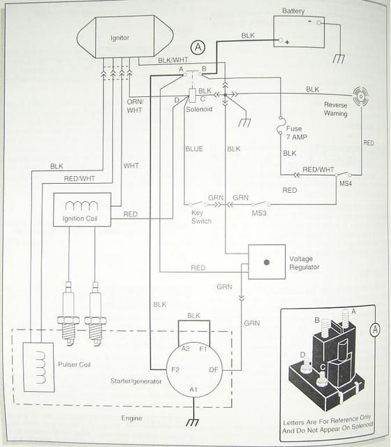 1994 ezgo gas wiring diagram