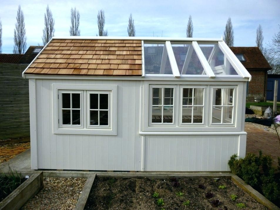 Superbe Backyard Office Shed Garden Shed Office Conversion A Bespoke Shed With  Greenhouse Backyard Office Shed Kits