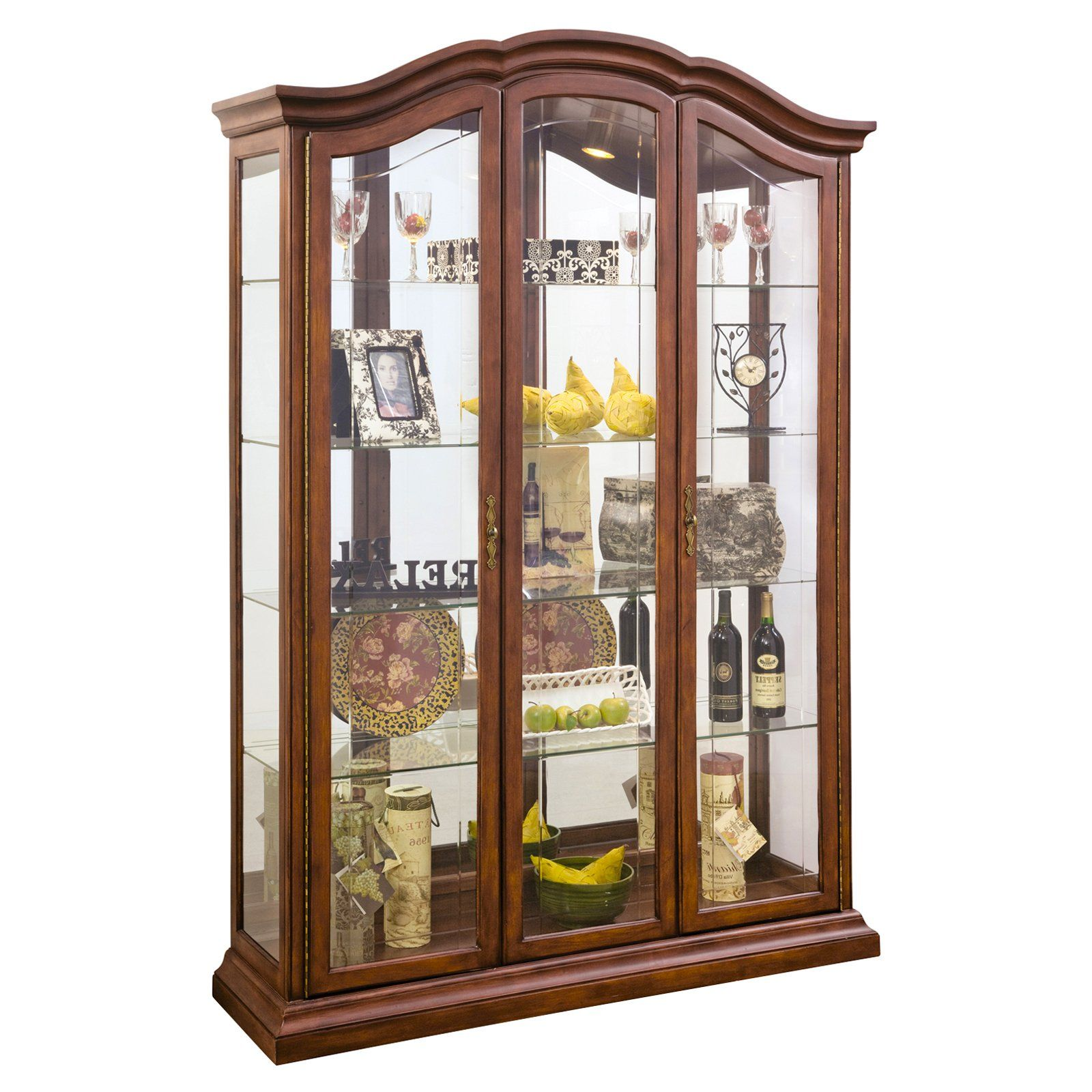 Glasvitrine Discount Philip Reinisch Company Lighthouse Oxford Curio Cabinet Products
