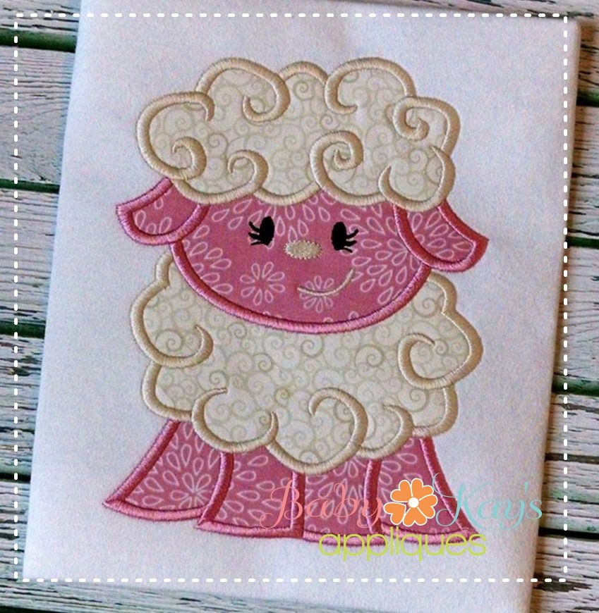 245127432feb32 Fluffy Lamb - A sweet lamb design for any Easter or Spring project. Applique  De