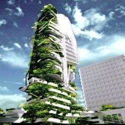 Un nouveau mod le de tour cologique singapour ville vegetale architecture futuriste - Immeuble vegetal ...