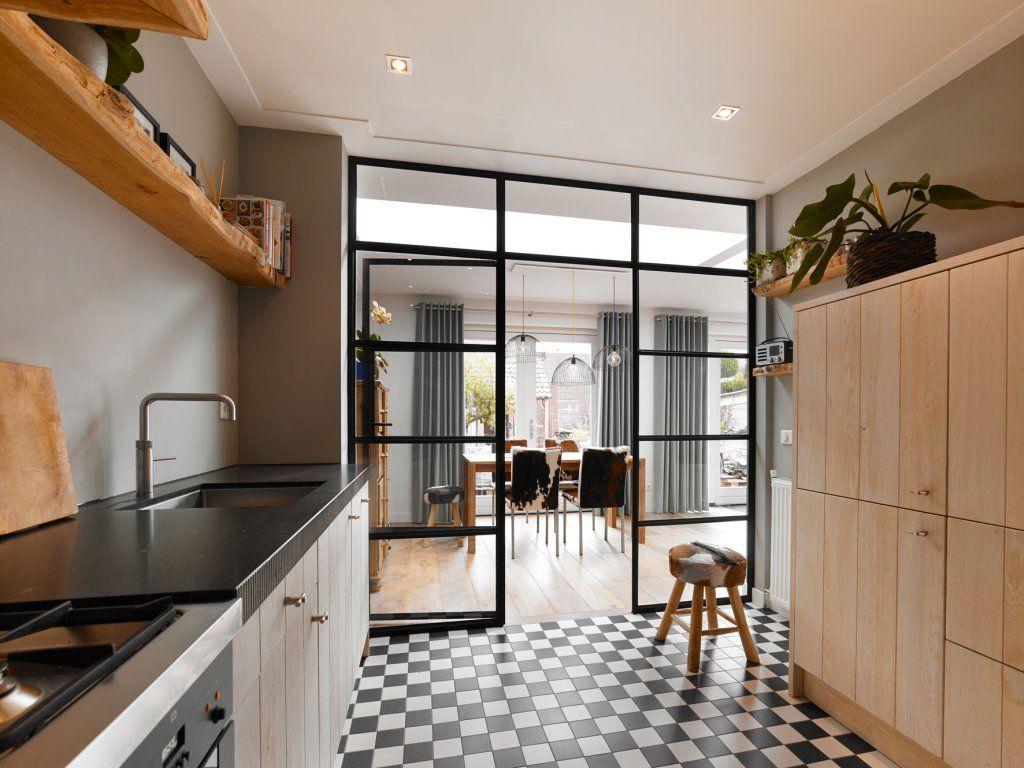 Stalen deuren keukeneetkamer staal in huis pinterest ramen deuren en stalen deuren - Huis roestvrij staal ...