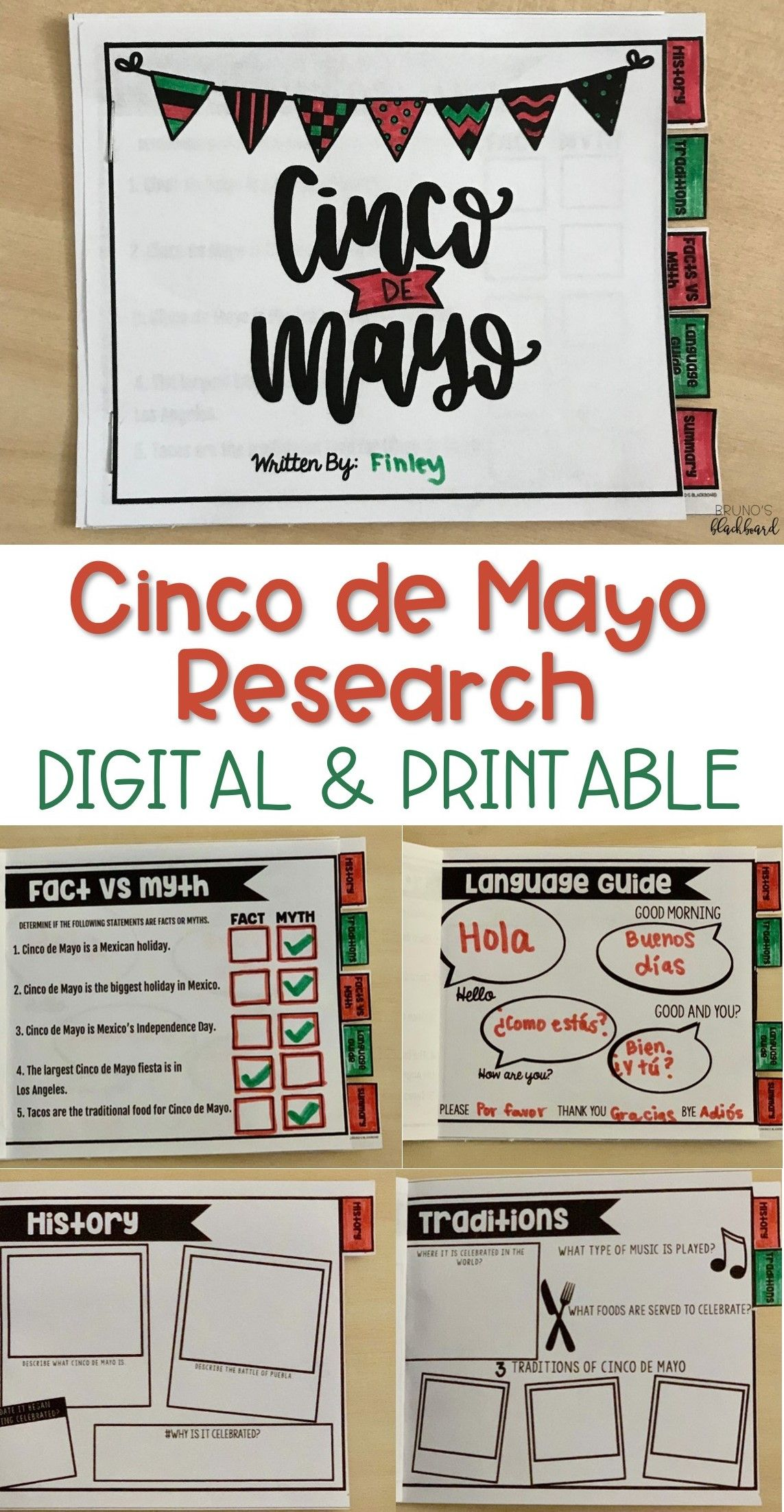 Cinco De Mayo Research Activity Report With Images