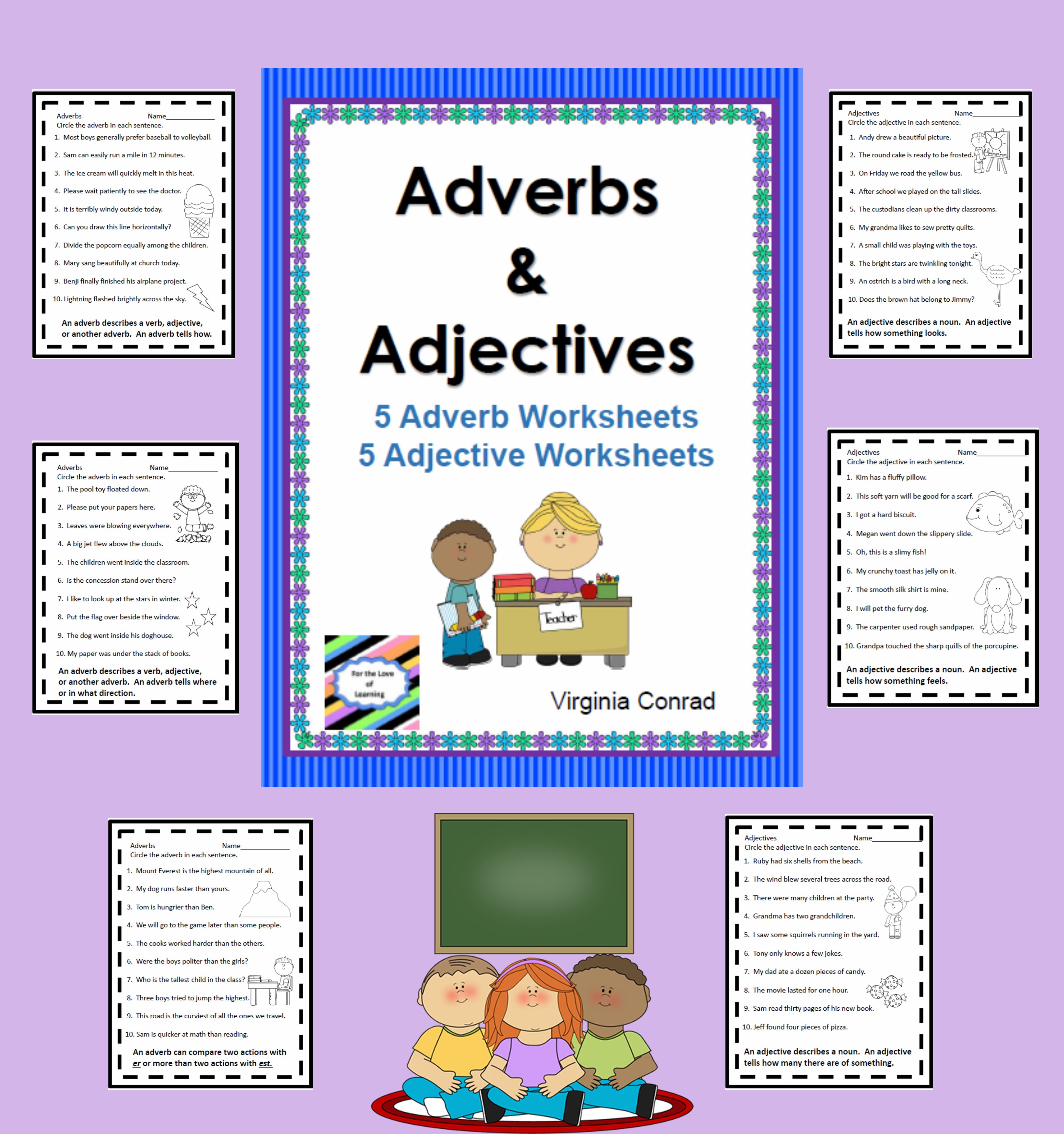 Adjectives And Adverbs Worksheets No Prep