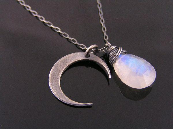 Half moon necklace birth