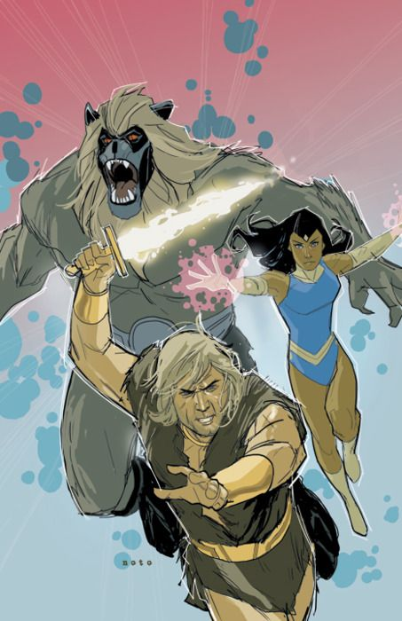 Thundarr the Barbarian by Phil Noto. That guy does it right every time.