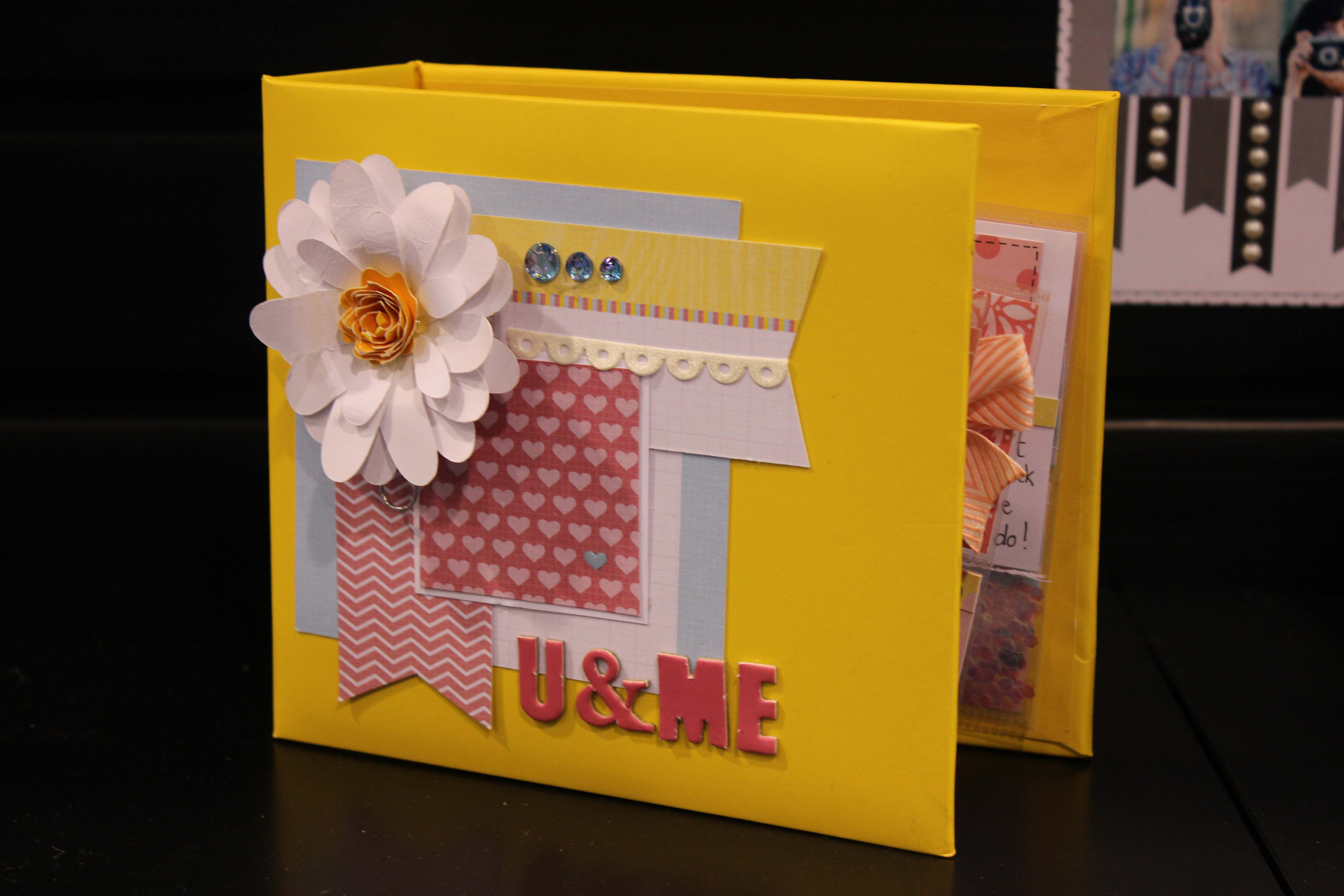 bright and colorful paper flower mini album by DCWV | Paper Crafting ...
