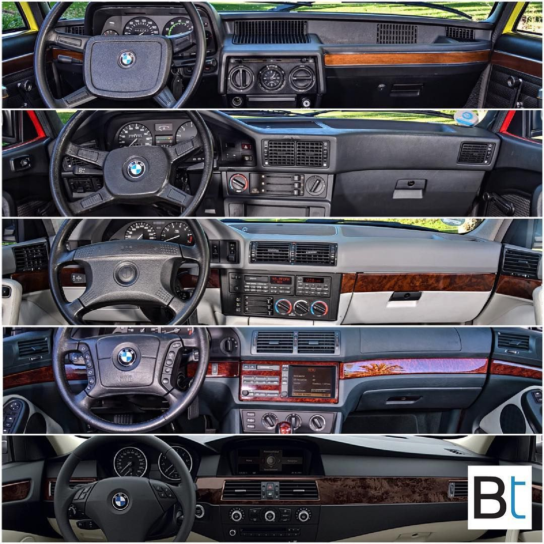 The Evolution Of The Bmw 5 Series Interior Starting With The