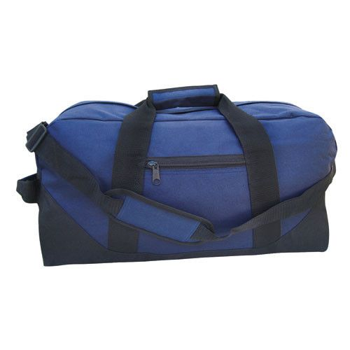 Large Size Two Tone 600D Polyester Duffle Bag W/ Velcro Handle, 21x11x11, 5-star rating, $6.95 each