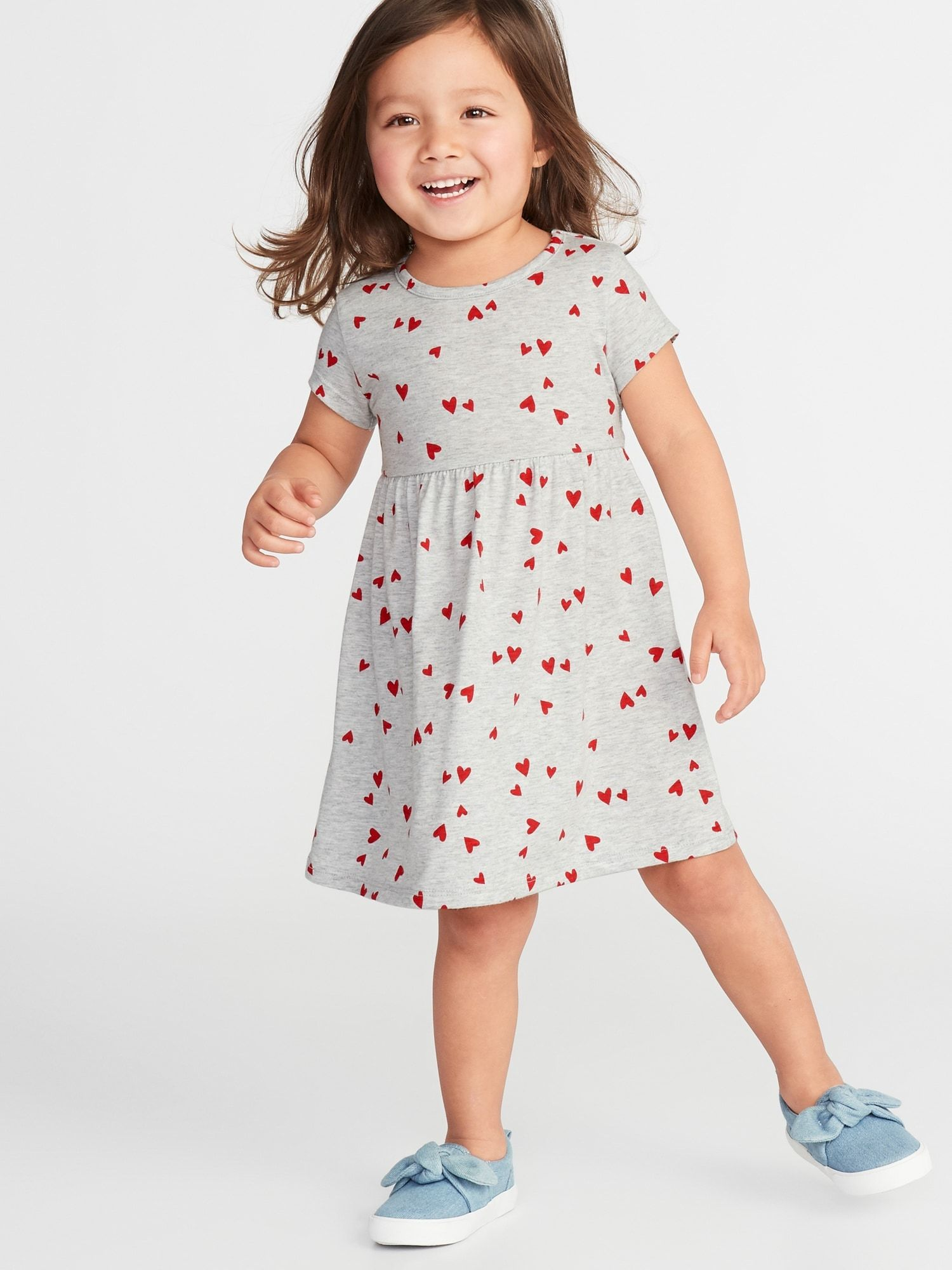 152d050083576 Jersey Fit & Flare Dress for Toddler Girls | The Girls | Toddler ...