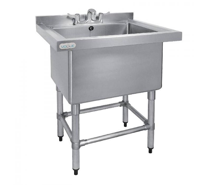 Chrselect Evier Profond 400mm Inox 100 Litres Bord 770 L